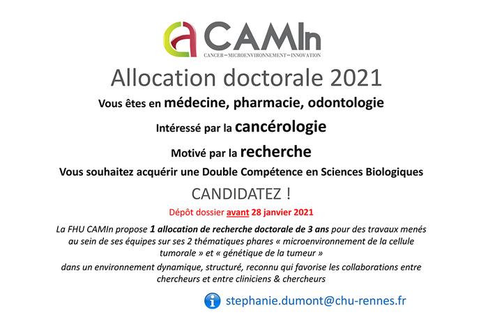 CAMIn allocation doctorale 2021