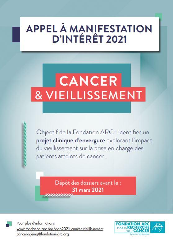Cancer vieillissement ARC 2021
